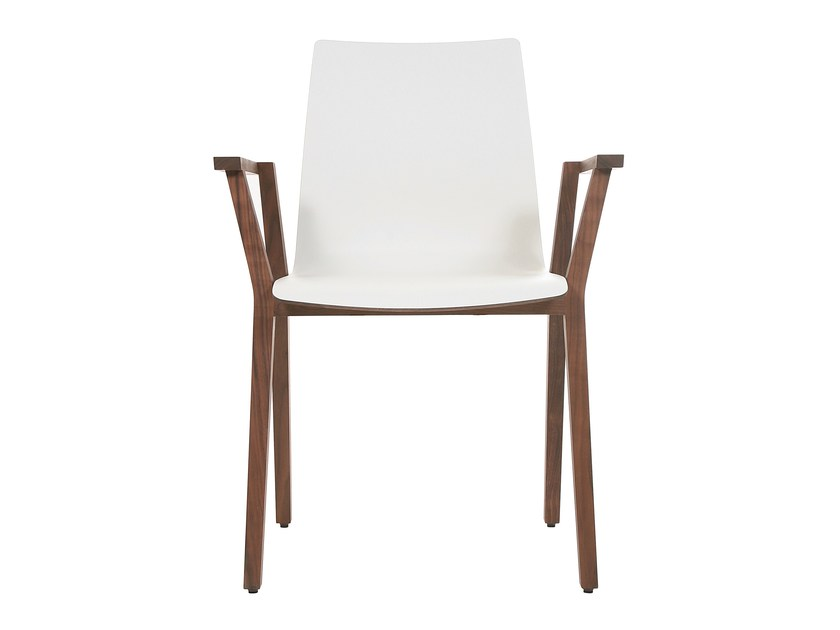 Stackable solid wood chair with armrests ALEC HOME | Chair with armrests by KFF