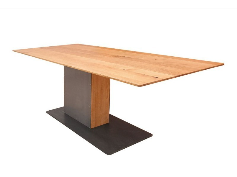 Rectangular steel and wood table LOOT by KFF