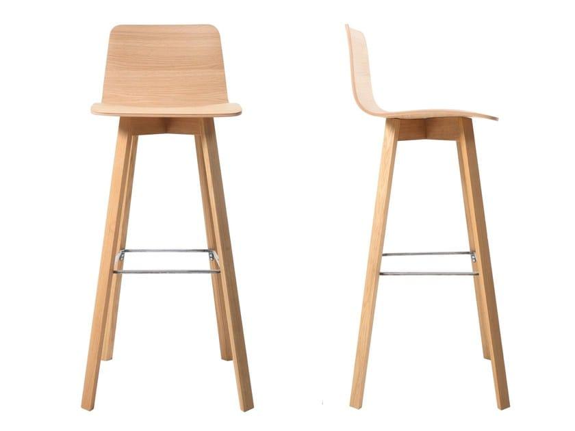 Sgabello In Legno Design : Sgabello alto da bar in legno maverick sgabello in multistrato kff