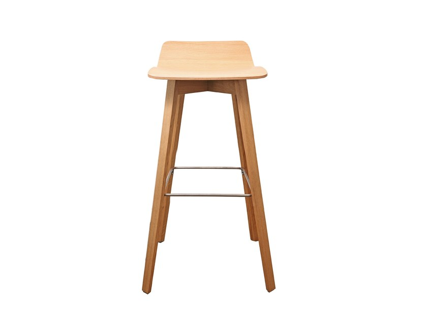 High wooden barstool MAVERICK | Multi-layer wood stool by KFF