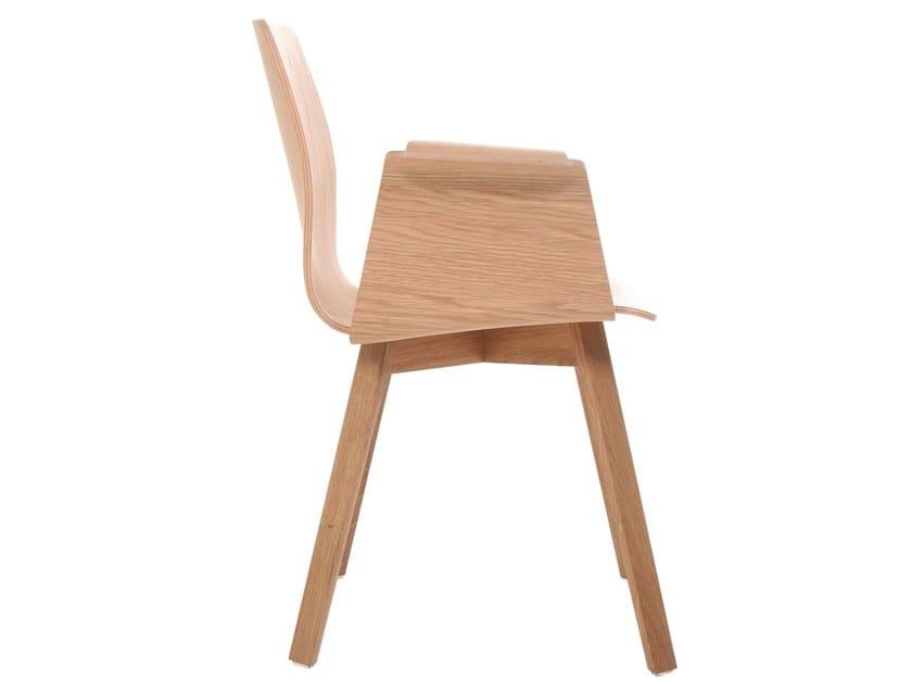 Sedia in legno massello con braccioli MAVERICK   Sedia con braccioli ...