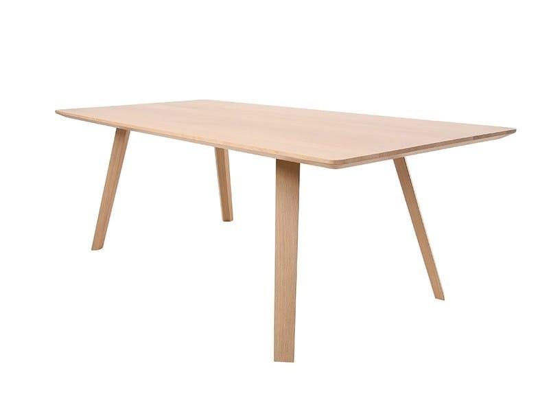 Rectangular solid wood table MAVERICK | Rectangular table by KFF