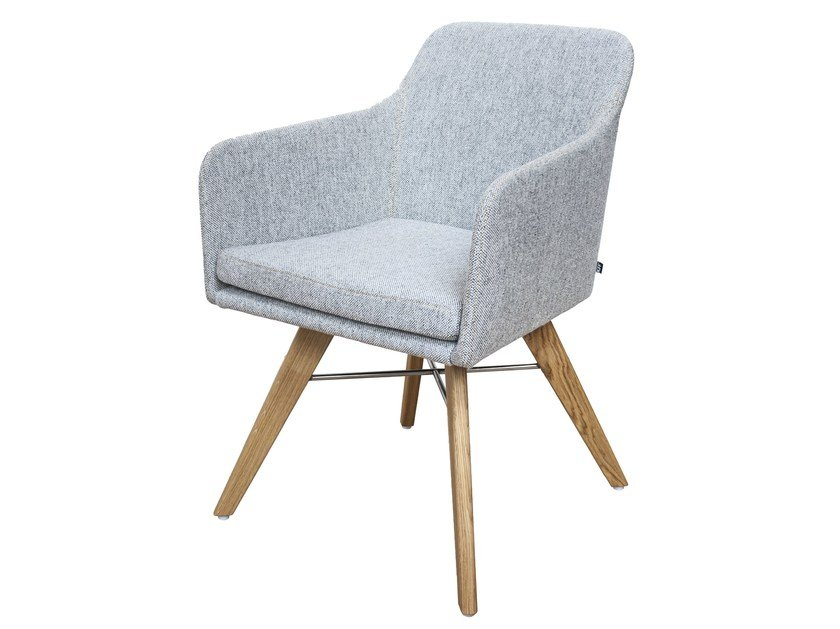 Fabric chair with armrests YOUMA   Fabric chair by KFF