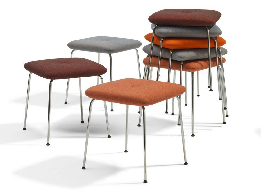 Upholstered stackable stool DUNDRA | Stackable stool by Blå Station