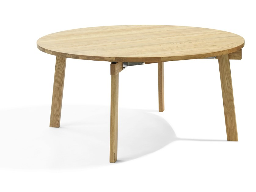 Round solid wood table SIZE | Round table by Blå Station