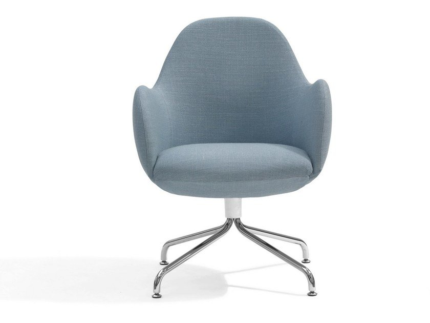 Easy chair with 4-spoke base WILMER CS by Blå Station