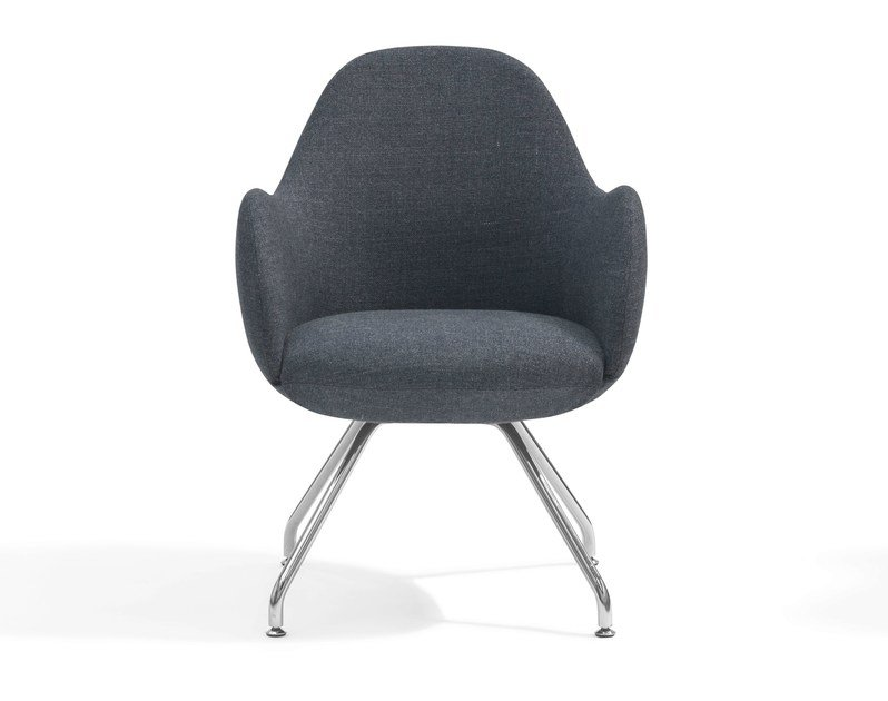Trestle-based easy chair WILMER C by Blå Station