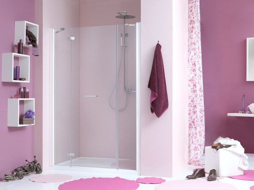 2 places niche shower cabin with hinged door WEB 2.0 B2F by MEGIUS