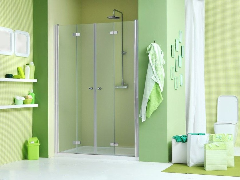 Niche shower cabin with folding door WEB 3.0 P2S by MEGIUS
