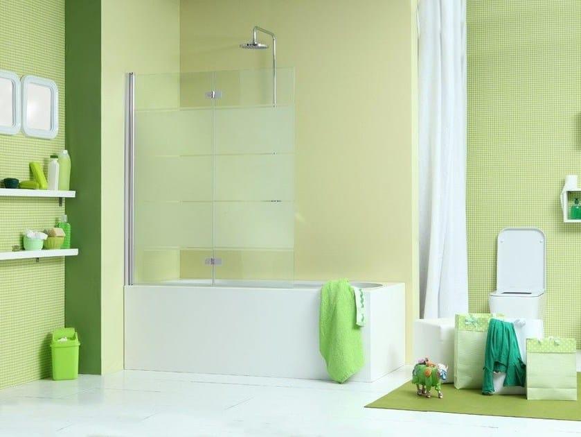 Glass bathtub wall panel WEB 2.0 V2D by MEGIUS