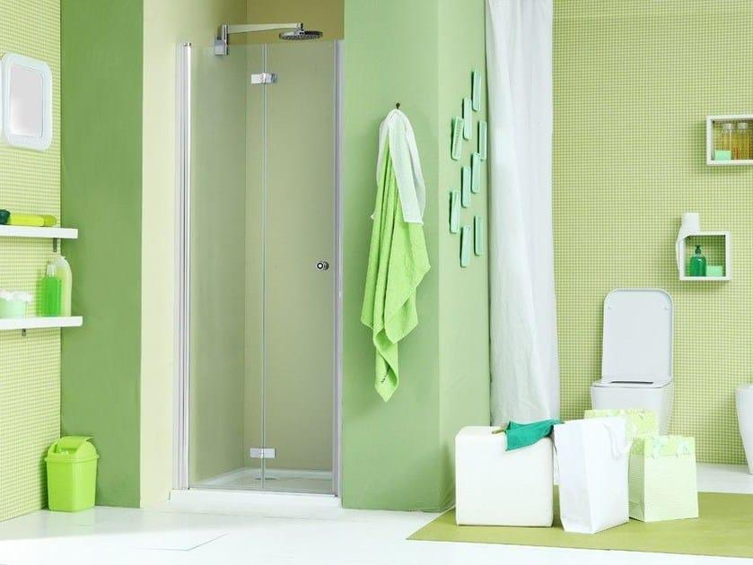 Niche shower cabin with folding door WEB 3.0 P1S by MEGIUS