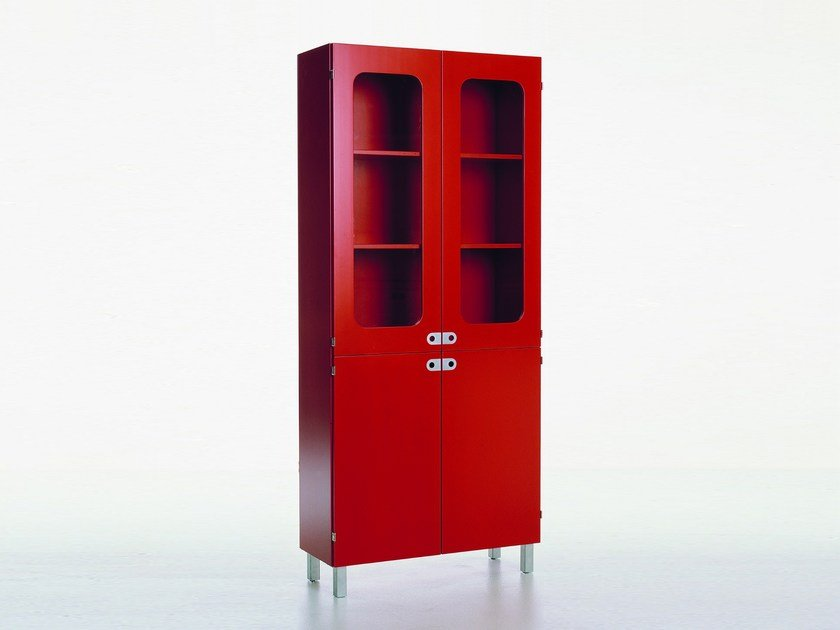 Lacquered highboard with doors 2K-SKÅP | 2K459 by Karl Andersson