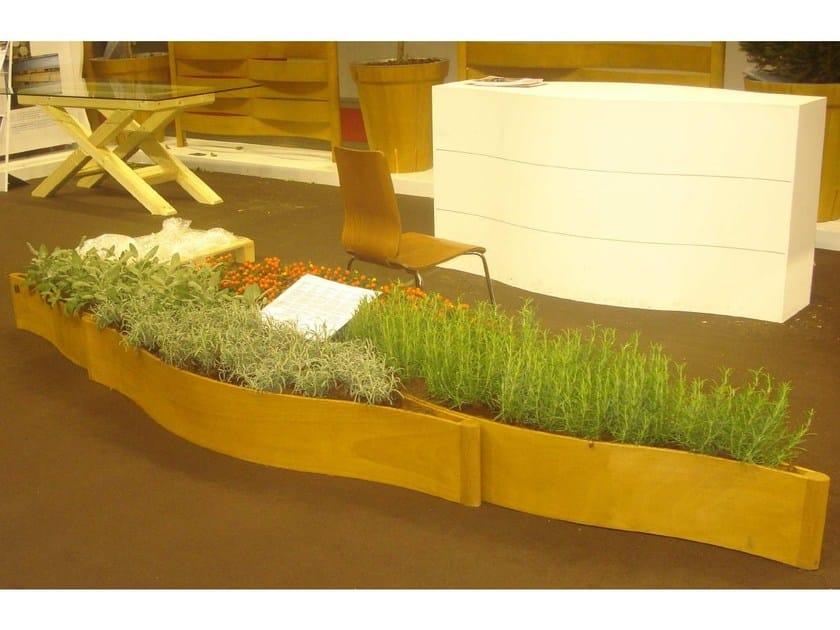 Wooden Flower pot ATOLLO by DDF