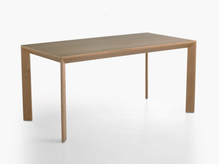 Rectangular wood veneer kitchen table CHAMFER | Wooden table by Karl Andersson