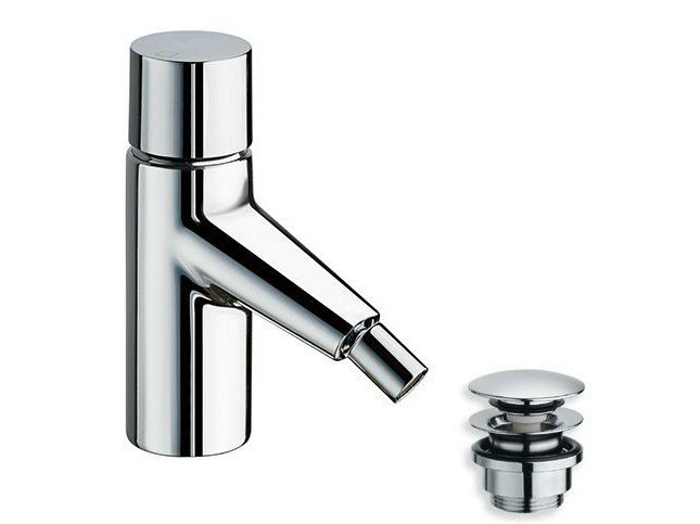 Chrome-plated single handle bidet mixer RUBINETTO by CRISTINA