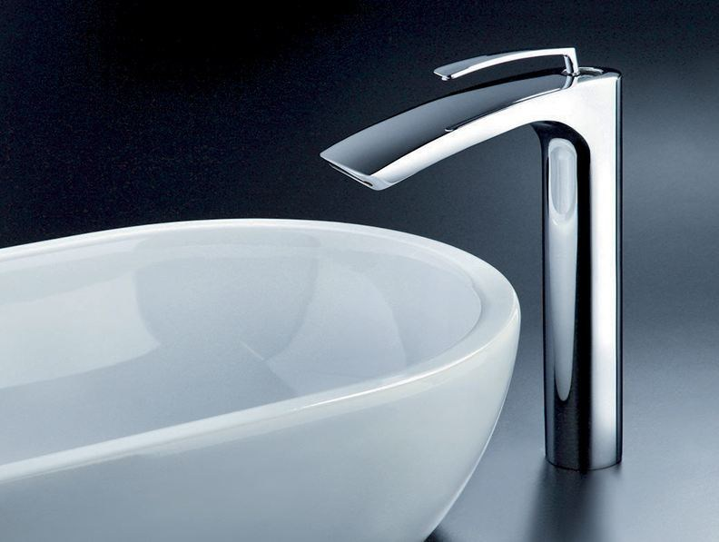 Chrome-plated washbasin mixer BOLLICINE by CRISTINA