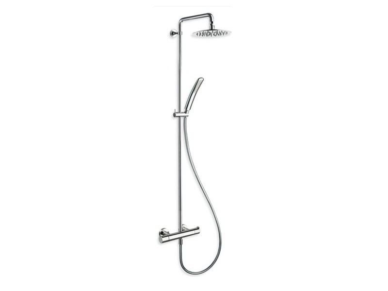 Thermostatic shower panel with overhead shower NEW DAY by CRISTINA
