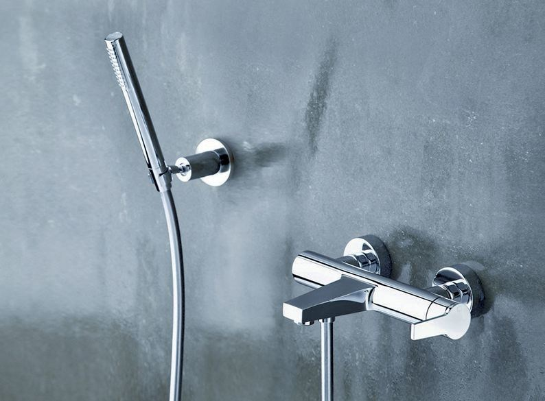Wall-mounted bathtub mixer with hand shower DIARIO by CRISTINA
