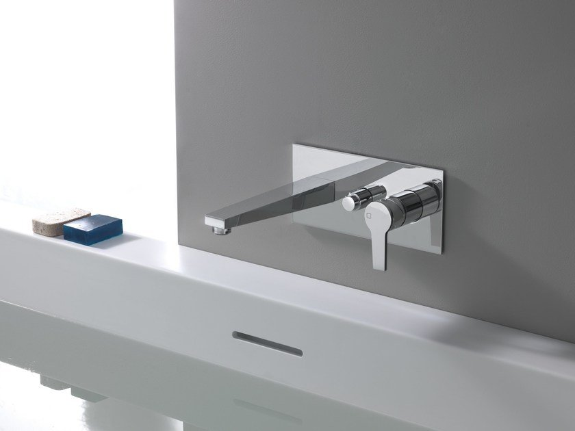 Wall-mounted bathtub mixer with diverter DIARIO by CRISTINA