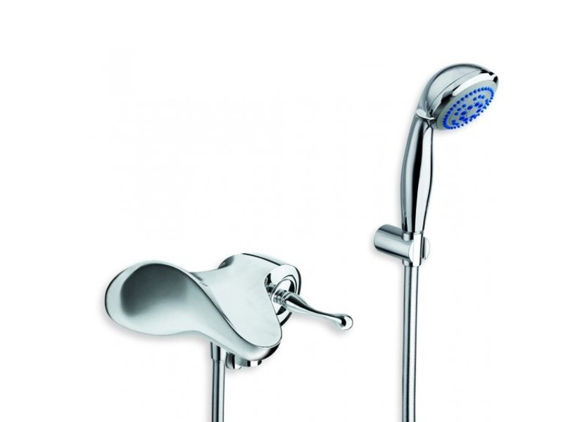 Wall-mounted bathtub mixer with hand shower ESEMPIO by CRISTINA