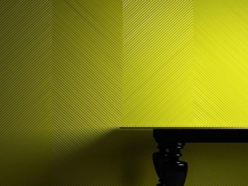 Pannello con effetti tridimensionali MILLERIGHE SPIGATO by 3D Surface
