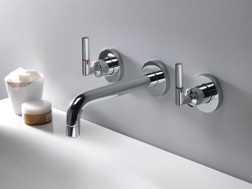 3 hole wall-mounted washbasin tap PICCHE ELITE by CRISTINA