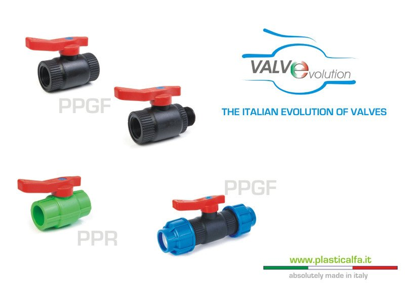 Valve, sluice, sluice gate for system VALVEVOLUTION by PLASTICA ALFA