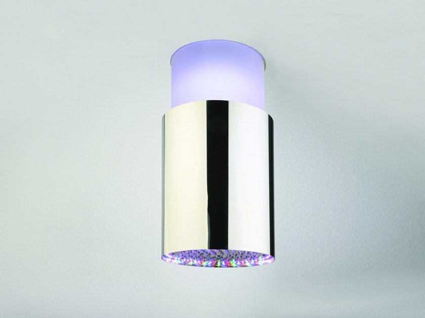 Ceiling mounted overhead shower with built-in lights SANDWICH COLOURS by CRISTINA