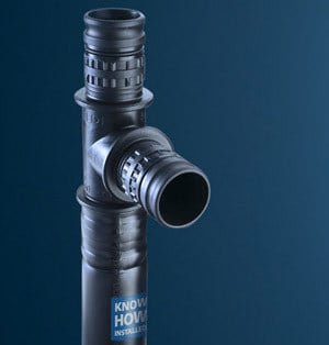 Pipe and special part for water network Mepla by Geberit Italia