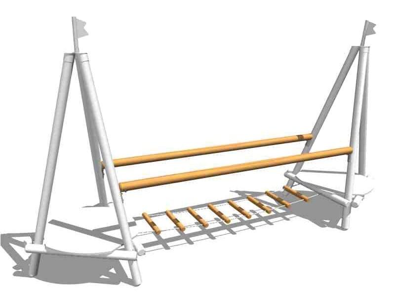 Wooden Overhead ladder LOGS BRIDGE by Legnolandia