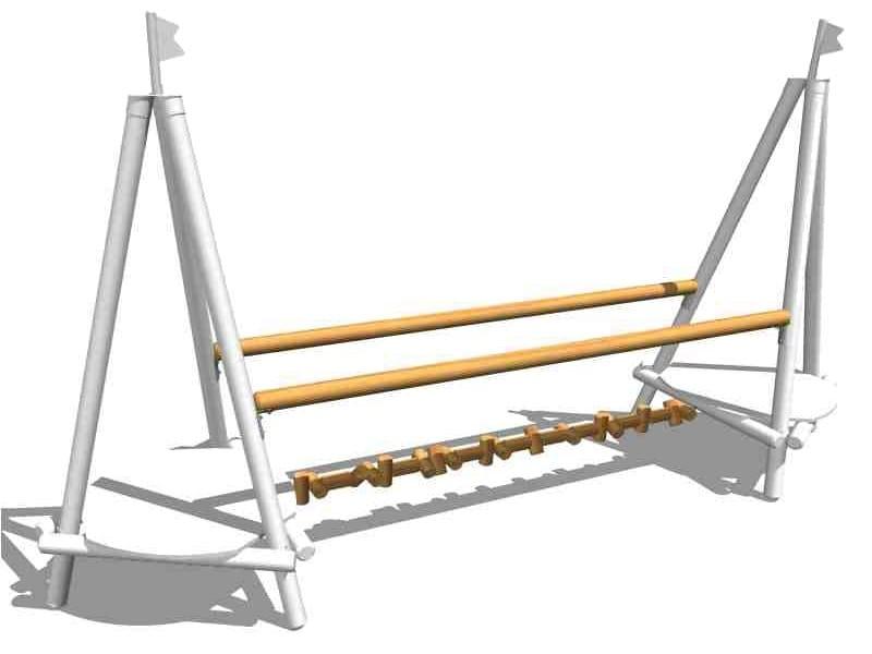 Wooden Overhead ladder CHAOTIC BRIDGE by Legnolandia
