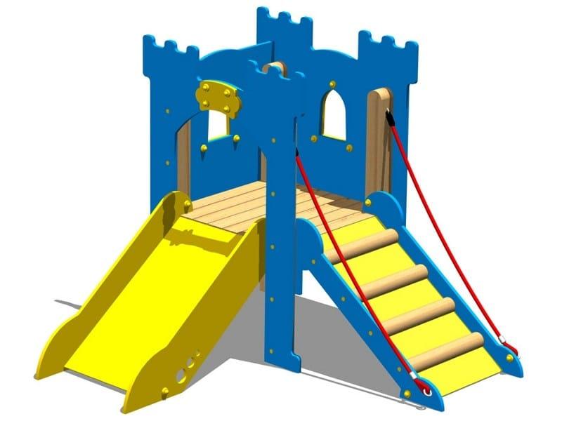 Polyethylene Play structure / Slide TORRE LANCILLOTTO - LEVATOIO by Legnolandia
