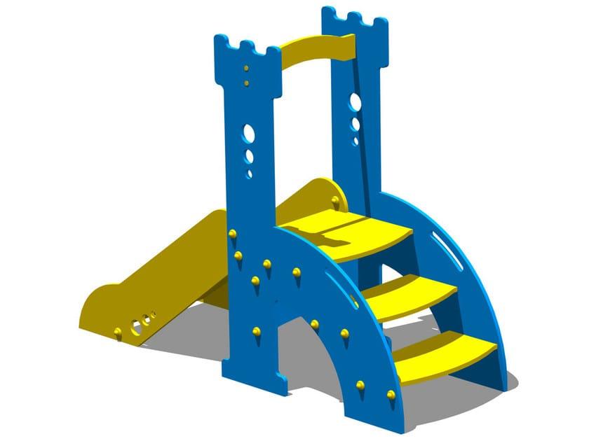 Polyethylene Slide TORRE ROBIN HOOD by Legnolandia