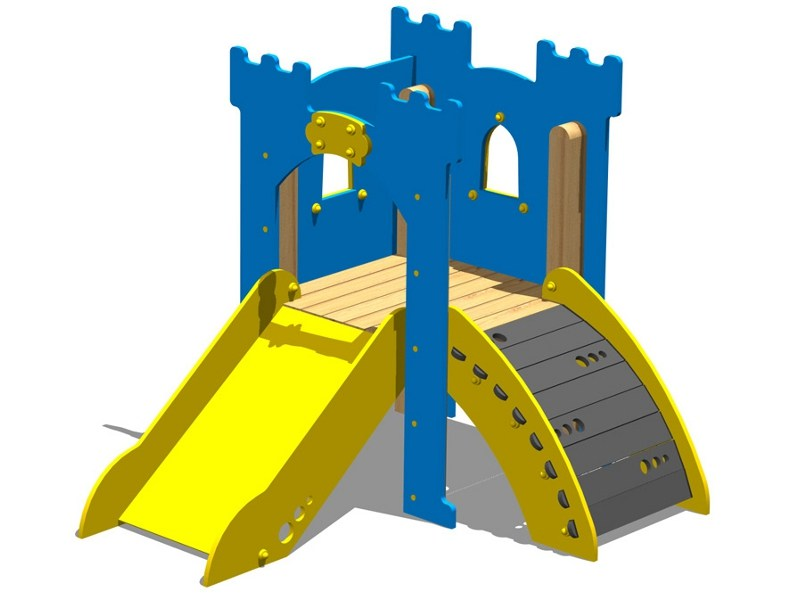 Polyethylene Play structure / Slide TORRE LANCILLOTTO - RAMPA by Legnolandia
