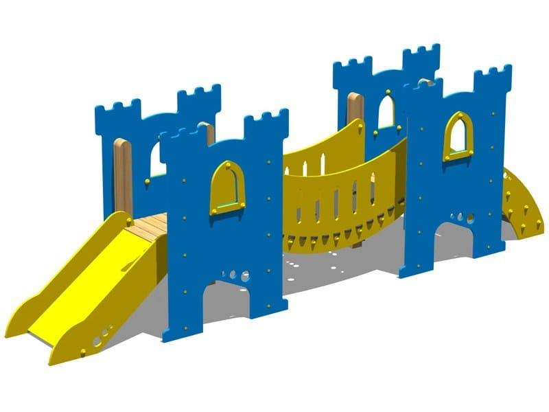 Polyethylene Slide / Overhead ladder CASTELLO GRAAL by Legnolandia