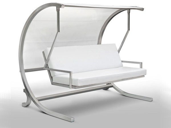 Stainless steel garden swing seat DONDOLÒ by CAGIS