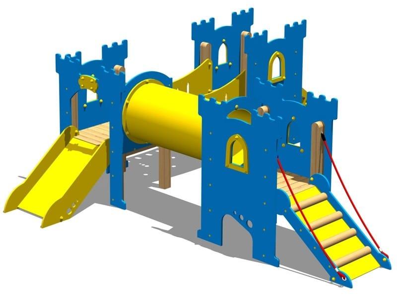 Polyethylene Overhead ladder CASTELLO TEMPLARI by Legnolandia