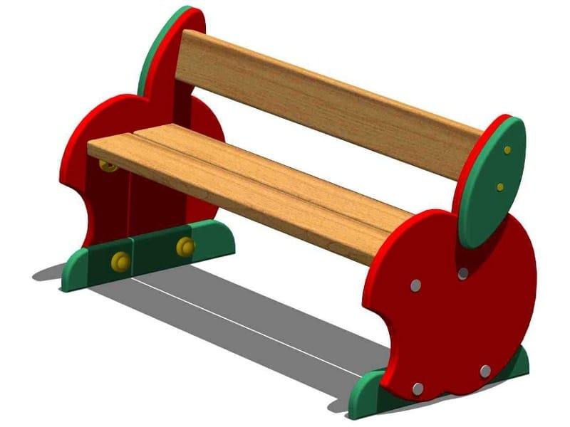 Pine Bench / Kids bench MELA   Kids bench with back by Legnolandia