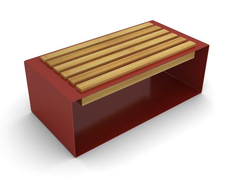 Panchina in acciaio e legno BOCU SEAT by LAB23