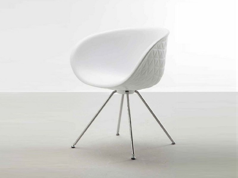 Integral polyurethane foam chair with armrests STRUCTURE STEEL by Tonon