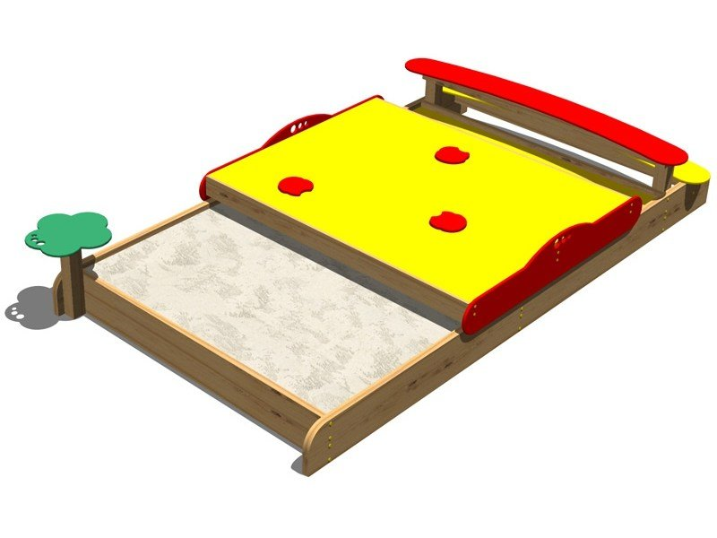 Wooden Sandbox SABBIERA GRILLO by Legnolandia