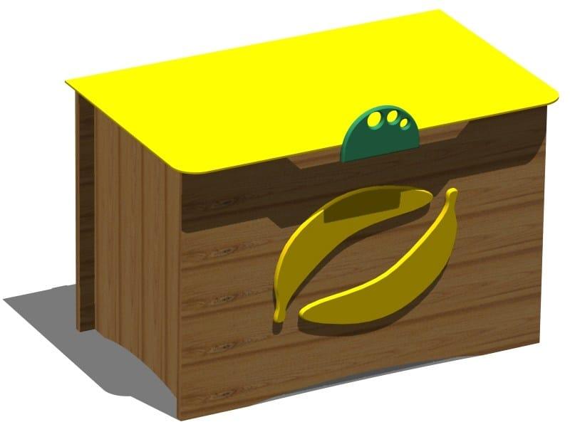 Wooden toy storage box BANANA BOX by Legnolandia