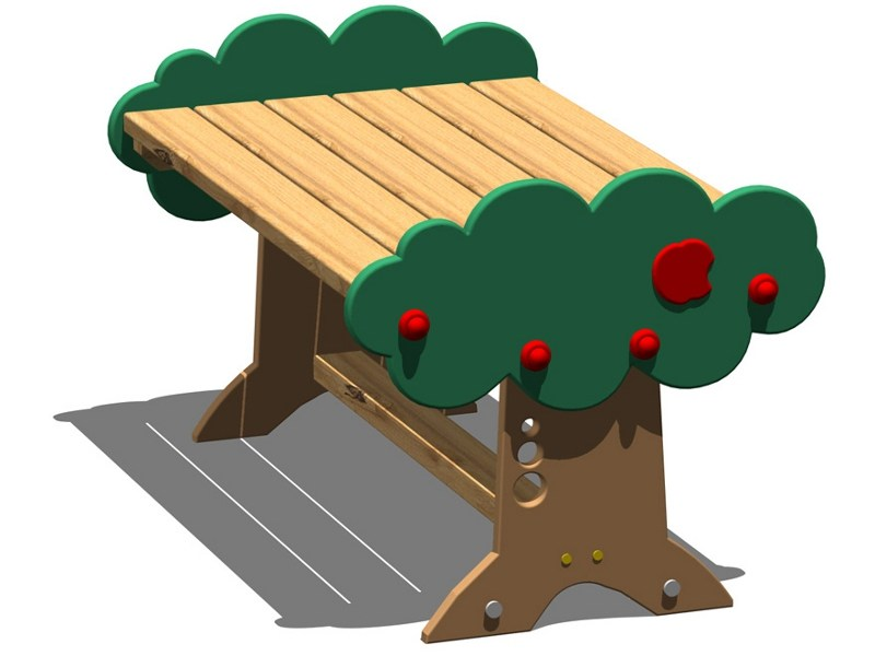 Pine Table for public areas MELA | Rectangular Kids table by Legnolandia