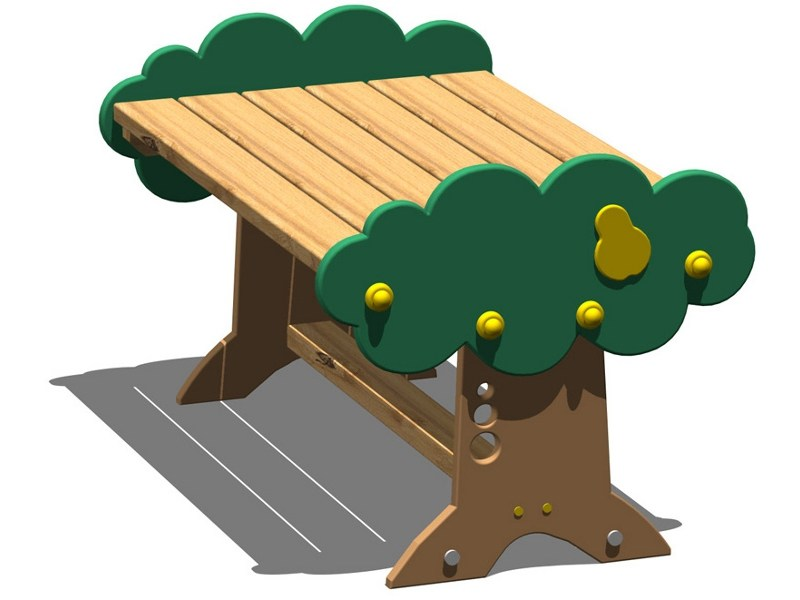 Pine Table for public areas PERA | Pine Kids table by Legnolandia