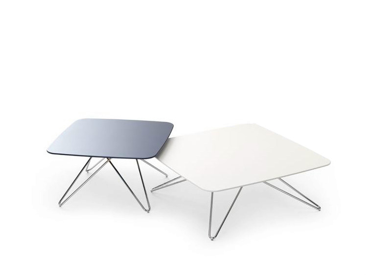 Low square coffee table for living room CIMBER by LEOLUX