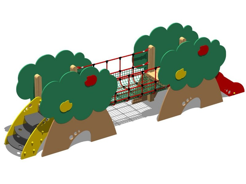 Polyethylene Slide / Overhead ladder CASTELLO MELO - SCALA GRADINI by Legnolandia