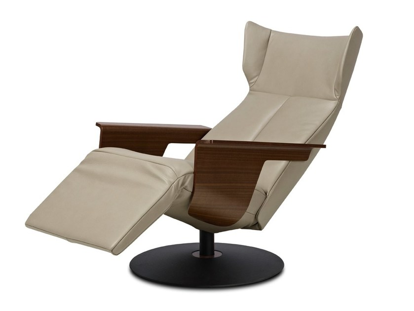 Reclining chair with footstool OREA by JORI