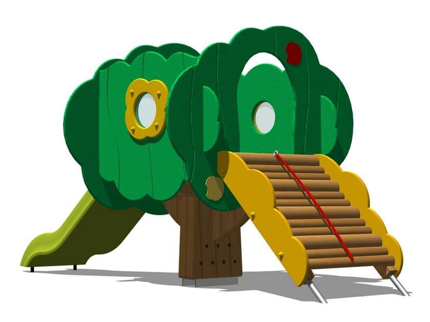 Polyethylene Play structure / Slide TREE TOWER 100-2 by Legnolandia