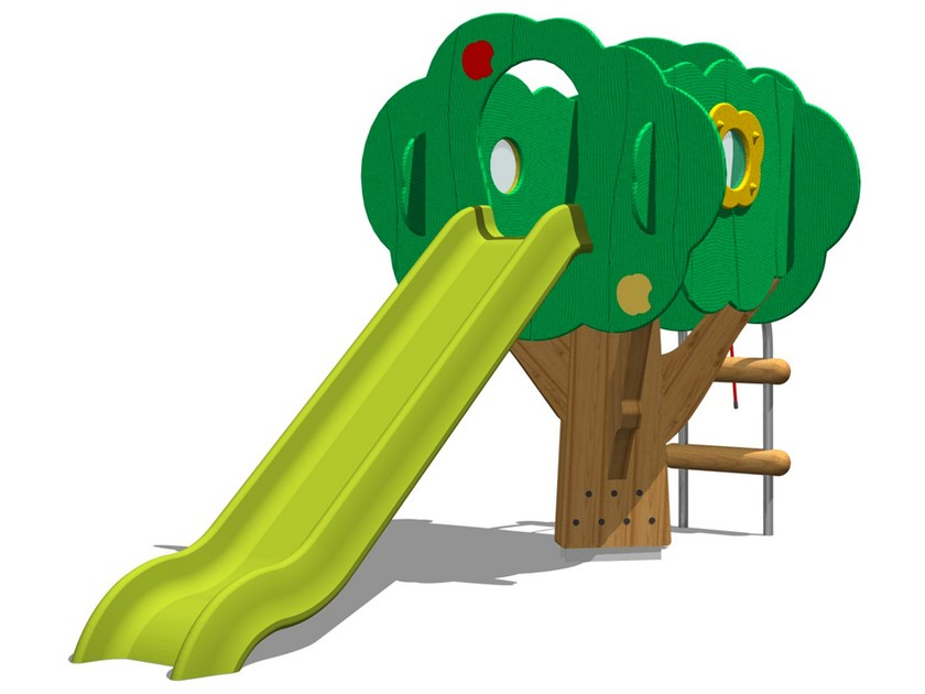 Polyethylene Play structure / Slide TREE TOWER 150-2 by Legnolandia