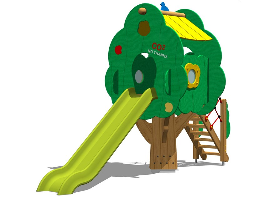 Polyethylene Play structure / Slide TREE TOWER 150T-4 by Legnolandia